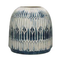 Vaso bianco blu Bdesign