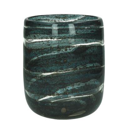 vaso vetro blu verde
